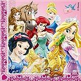 Unique Party Servilletas de papel con diseño de princesas y animales de Disney (paquete de 20 unidades)