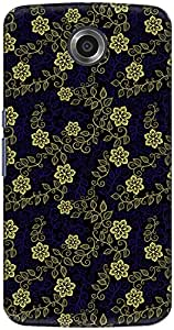 The Racoon Lean printed designer hard back mobile phone case cover for Google Nexus 6. (Yellow Lac)