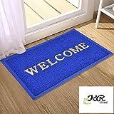 KR STORE Dirt Rub Off Coir PVC Eco-friendly Doormat for Bedroom, Entrance, Kitchen, Home, Main Door, Entryway, Shop, Outdoor, Bed room, Floor (90 x 60 cm)