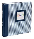 Elements Fotoalbum in 30x30 cm 100 weiße Seiten Jumbo Buchalbum Foto Album: Farbe: Blau