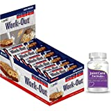 Rite Bite Work Out Gymnasium Nutrition Bar - 50 G (Pack Of 24) With (Free)Natures Velvet Lifecare Joint Care Formula...