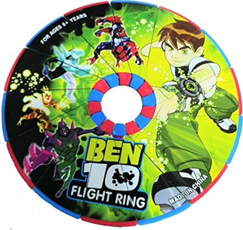 RIANZ Imported Ben 10 Magical Unfold Flying Disk / Ring frisbee for Kids outdoor games