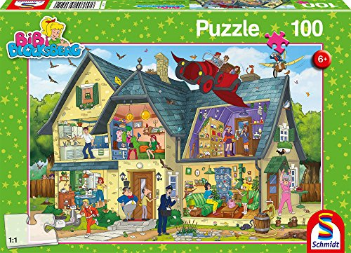 Schmidt Spiele 56151 Bibi, Blocksbergs ist was los, 100 Teile Kinderpuzzle, bunt (100 Teile Puzzle Erwachsenen)