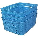 Fair Food ™ Multi Storage Basket Blue 3 Pcs Set