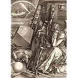 Albrecht Dürer - Melencolia I, La Melancolía, 1514, Sepia, 2 Partes Fotomural Autoadhesivo (250 x 180cm)