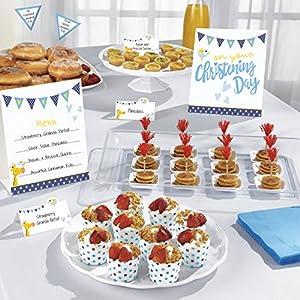 Kit de bufé azul para el día de tu bautizo Amscan International9901962