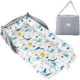 Baby Reisebett und Tasche//Umh/ängetasche//Rucksack 4 in 1 SUNVENO Baby Nest Bett drinnen und drau/ßen tragbare Liege f/ür Reisen 0-12 Monate Gr/ün