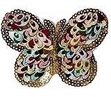CAOLATOR Aufnäher Stoff Aufkleber Patch Sticker Glitzer Schmetterling Aufbügeln Bunt DIY Kleidung Applikation Patches Flicken für T-Shirt Jeans Taschen Schuhe Hüte