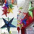 SSITG 1x Weihnachten Hängend Schnur Star Baumdekoration Hause Wand Weihnachtsdeko Bund von SSITG bei Du und dein Garten