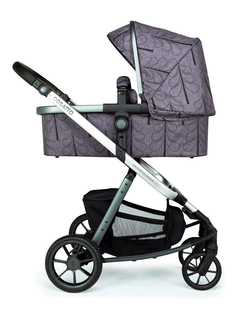 Cosatto Giggle Quad Pram & Pushchair Fika Forest Cosatto Enhanced performance. unique tyre material and all-round premium suspension give air-soft feel. Comfy all-round. spacious carrycot for growing babies.  washable liner. reversible reclining seat. Ultimate buy. tested up to a mighty 20kg for even longer use. big 3.5kg capacity basket for big shop 3