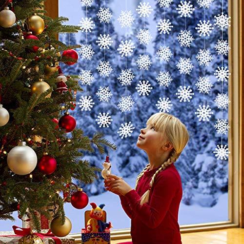 endekoration zum Aufhängen, Weihnachtsdekoration, 8PCS Schneeflocke Dekorationen - Winter Wonderland / Weihnachten / Urlaub Party Supplies ()