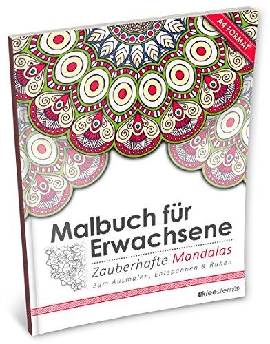 Malbuch für Erwachsene: Zauberhafte Mandalas (Kleestern®, A4 Format, 40+ Motive) (A4 Malbuch für Erwachsene)