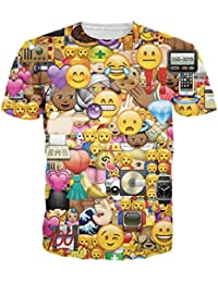 Leapparel Unisex Casual T-Shirt for Men and Womens 3D Graphic Print Short Sleeve Tee Top Shirts