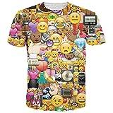 Leapparel Unisex 3D Emoji Gesichts Druck Sommer Mannschaft Ansatz Grafik T-Shirts Kleidung M für Leapparel Unisex 3D Emoji Gesichts Druck Sommer Mannschaft Ansatz Grafik T-Shirts Kleidung M