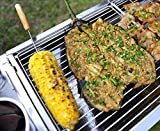 Ouken Barbecue Spieße Marshmallow Röst Stäbchen Holz Griff Hot Dog Gabel für BBQ Camping Lagerfeuer 12 Stück - 3