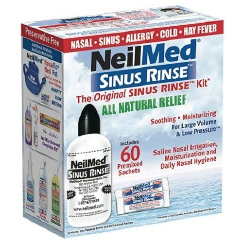 NeilMed Original Sinus Rinse Kit with 60 Premixed Sachets