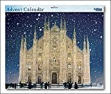 Large Grand Advent Calendar (WDM4447) Caltime - Cathedral in Snow - Glitter Varnished