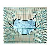 Runfon Hamac Lit en Tissu avec Cage pour Chat Hamac Suspendue pour Chat Lapin Chiot Autres Petits Animaux