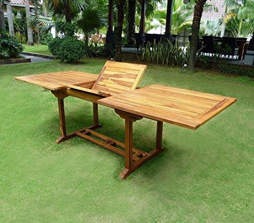 Table de jardin en teck huilé : 10 places