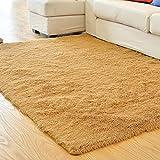 "Weimanshop Soft Anti-skid Carpet Floor Mat Shaggy Rug Living Room Bedroom Decor 7 Colors 31.5"" x 47"" Light Camel"