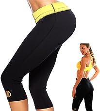 Zomoza Womens Slimming Pants Hot Thermo Neoprene Sweat Sauna Body Shapers Fitness Stretch Control Panties Burne Waist Slim Pants(S,M,L,XL,XXL,XXXL)
