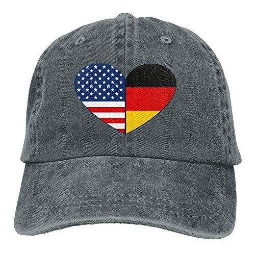 Yutirewer Baseball Cap German American Heart Men Snapback Caps Polo Style Low Profile -