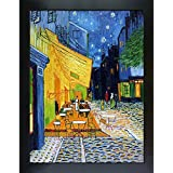 OverstockArt Cafe Terrace at Night By Vincent Van Gogh New Age Frame Hand Painted Oil On Canvas, Wood, Multi-Colour preiswert