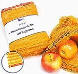 MGS SHOP - Sacchetti a retina, capacità 2,5 kg, 28 x 36 cm, retina per patate con nastro e passamano (20 pezzi)