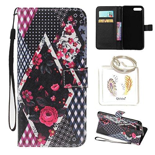 für iPhone 7G Plus PU Silikon Schutzhülle Handyhülle Painted pc case cover hülle Handy-Fall-Haut Shell Abdeckungen für Smartphone Apple iPhone 7 Plus (5.5 Zoll) + Schlüsselanhänger (/P) (20) (Womens Apple Wallet)