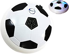 Akhand Indoor Football Game Toy Soccer Disc For Kids With Foam Bumper And LED Lights - Multi Color