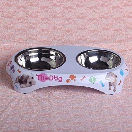 Vulna (TM) Buona bello di vendita dell'acqua di alimentazione del cane pets puppy Gatti alimentari doppio si raddoppia Bocce # 76544
