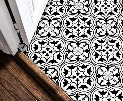 Sticker Tile Stickers Decals S For Kitchen Backsplash Floor Bath Removable Waterproof Peel & Stick Vinyl Adhesive Tiles(Set 12 Units) (12 X 12 Vinyl Floor Tile)