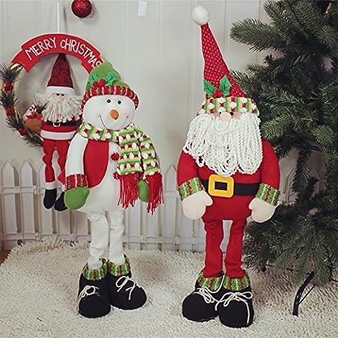 Ornamento di Santa pupazzo di neve Natale Decorazioni Natale regali bambini bene gamba promozionale bambola Natale ornamenti decorazioni di Natale,Babbo Natale