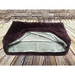 Snuggle–Carcasa bolsa/saco de dormir/mascotas cama para gatos o perros por Lola de PET, color morado y gris
