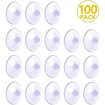 PAMIYO 100 Pièces 30mm Ventouse Transparent, Crochets en Plastique PVC de Forte Aspiration pour la Maison