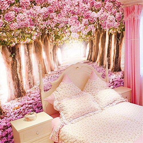 ADLFJGL 3D Rosa Wänden Und Warmen Wohnzimmer Schlafsofa Videos Hintergrund Tapete 150×105Cm Wallpaper