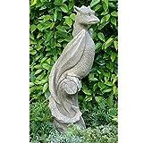 Vidroflor Gartenfigur | Drache auf Ast WYVERN | H: 80 cm |33 kg | aus massivem Steinguss