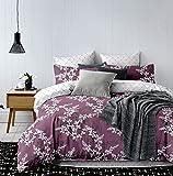DecoKing 91944 Bettwäsche 135x200 cm mit 1 Kissenbezug 80x80 violett