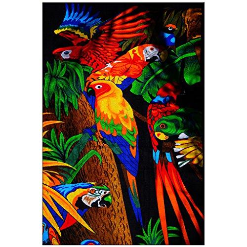 Elektro-fleece-decke (Decke Komfort Wärme weicher Plüsch Überwurf für Couch Parrot Camouflage Colorful Abstrakt, Polyester, multi, 127 cm x 203,20 cm)