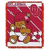 Northwest NCAA Oklahoma Sooners Fullback gewebte Jacquard Baby Überwurf Decke, 36x 116,8° cm