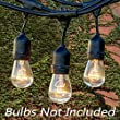 Fetoo� 33 Feet Outdoor Weatherproof String Lights - with 9 E27 Hanging Sockets, Black Wire | Best for Patio, Garden, Festoon Party Decoration ( Bulbs Not Included )