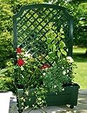 Pflanzkasten m. Spalier+Speicher grün. Calypso. 2 Packstücke