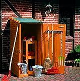 Promadino Holz-Geräteschrank Klein Gerätehaus Schuppen Schrank