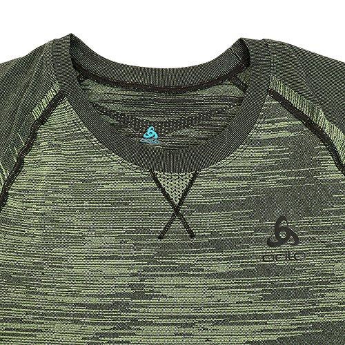 94be5b8fad0138 Odlo Herren Shirt S/S Crew Neck Evolution Light Blac Unterwäsche ...