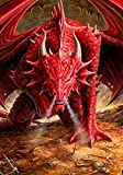 Guarida del Dragón–Dragón Gótico tarjeta de felicitación con diseño de sobre–por Anne Stokes–en blanco para escribir tu mensaje y cualquier ocasión