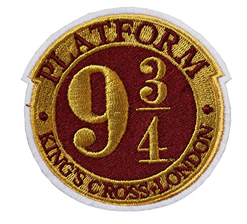 PLATFORM 9 3/4 Embroidery Patch Iron on or Sew on Hogwarts House Embroidered Motif Harry potter Kingscross platform Transfer Applique