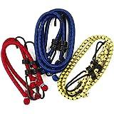 Verschillende elastische Bungee koorden - Feature metalen haken voor Secure Tie Downs - Pack van 6 koorden in verschillende g