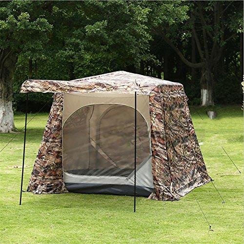 QAR Camouflage-Druck-Doppel-Outdoor-Camping-Zelt Wasserdichtes Fenster Verhindert Moskito 5-8 Zelt Zelt