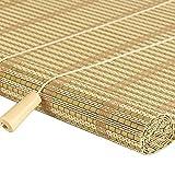 WENZHE Bambusrollo Fenster Sichtschutz Rollos Holzrollo Bambus Raffrollo Schattierung Atmungsaktiv Kann Heben Bambus, 4 Stile, 2 Installationsmethoden, 17 Größen Wahlweise