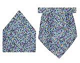 Tiekart Blue Cravat+Pocket Square Combo
